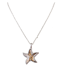 Sand Bar - Starfish Necklace - Silver - Artsy Abode