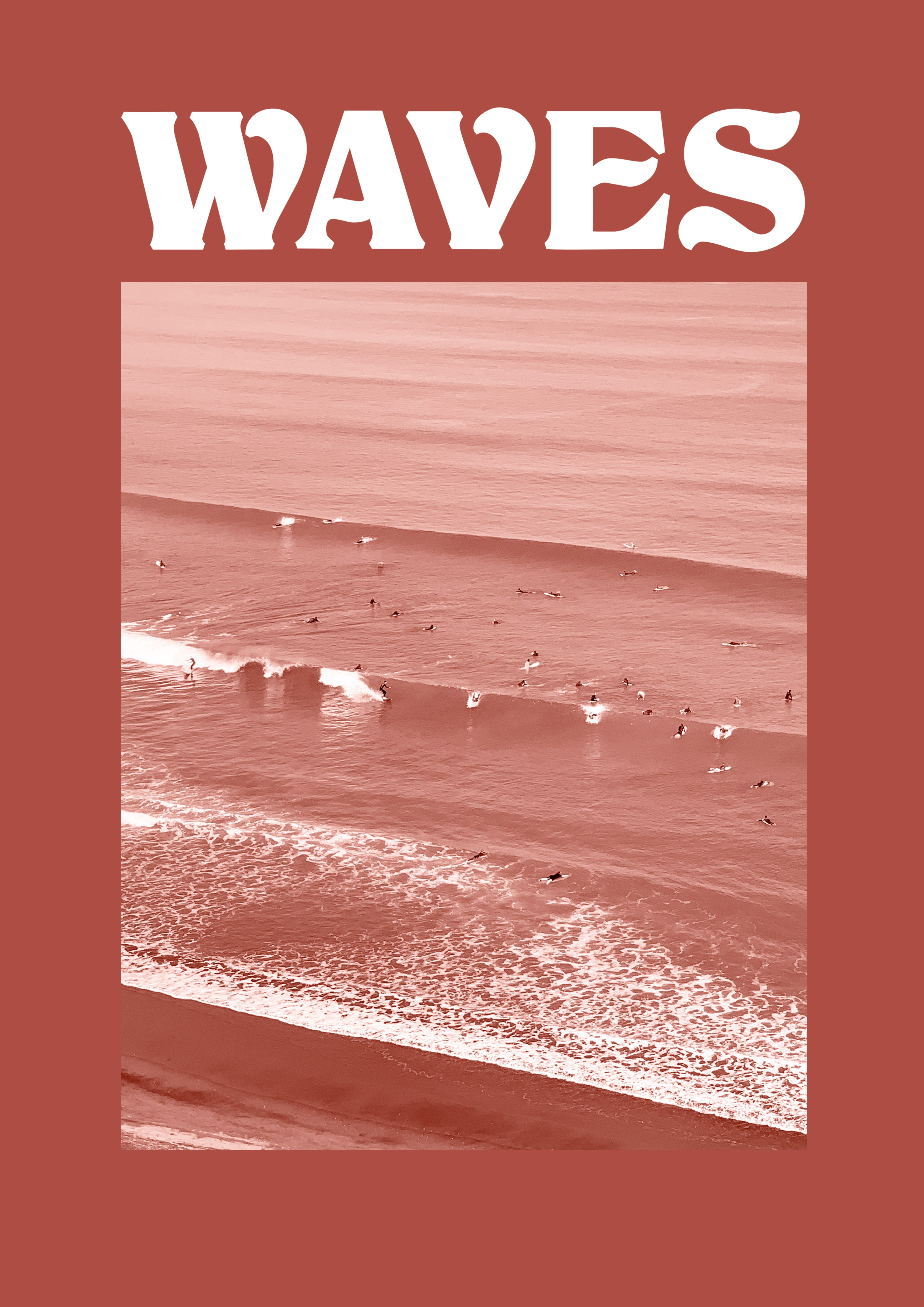 WAVES SS - DEEP CORAL