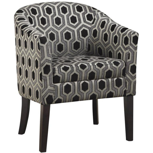 BLACK HEX ACCENT CHAIR