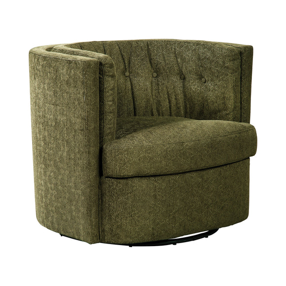 RECESSED SWIVEL ACCENT CHAIR