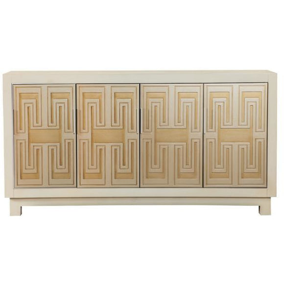 GREEEK KEY ACCENT CABINET