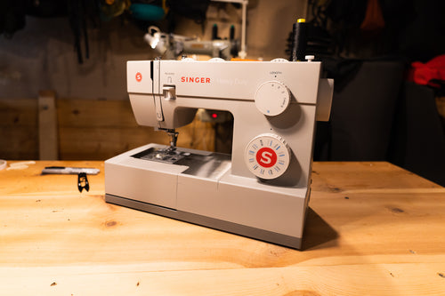 Janome HD3000 on wood table