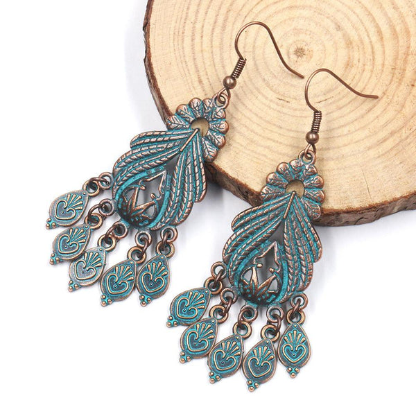 Women Bohemian Vintage Geometric Earrings