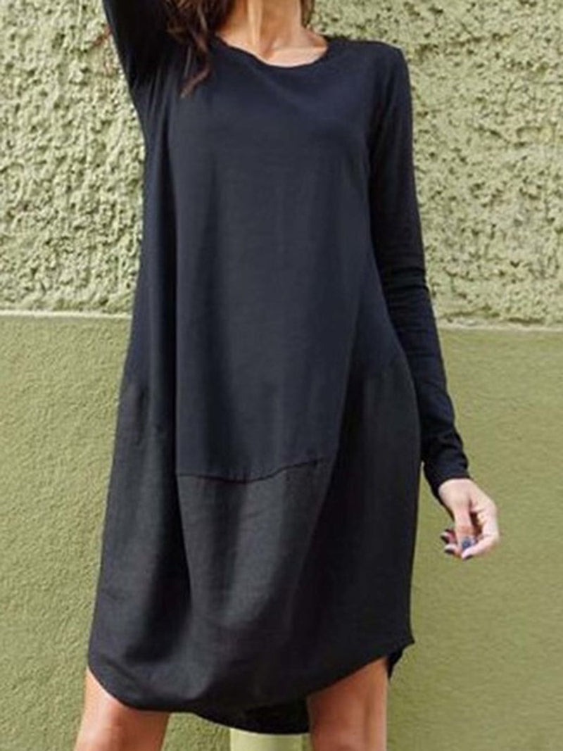 Round Neck Loose Long-sleeved Shirt