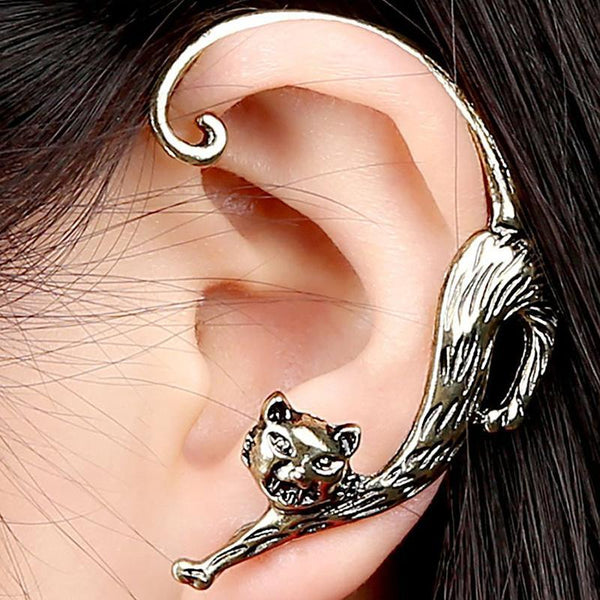 Retro Personality Punk Enchanting Cats ear hanging Earrings