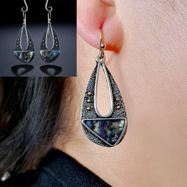 Drop-Shaped Triangle Boho Colored Earrings