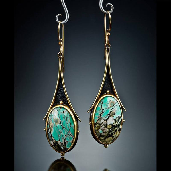 Vintage Fashion Colored Marble Earrings