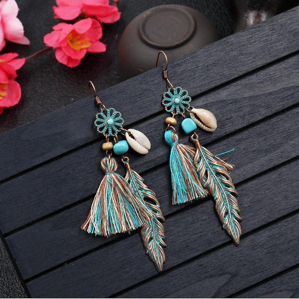 Vintage Bohemian Earrings Tassels Earrings