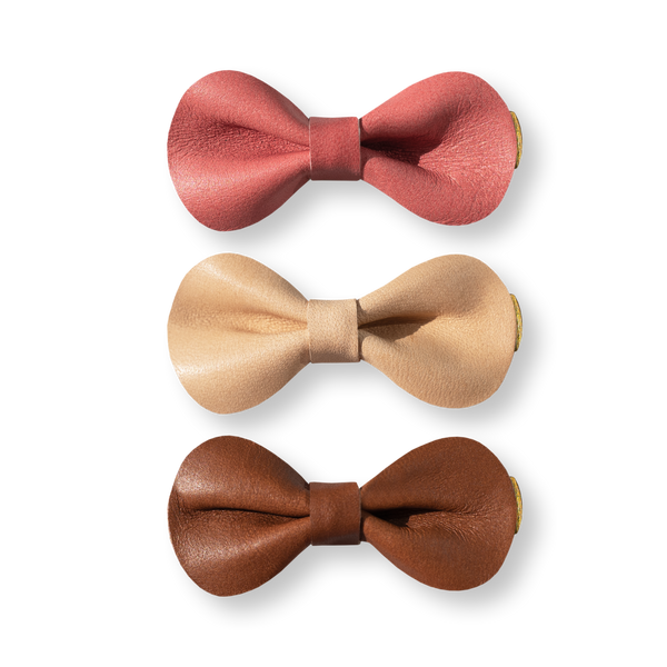 Hair Bow Trio - Neapolitan Ice Cream