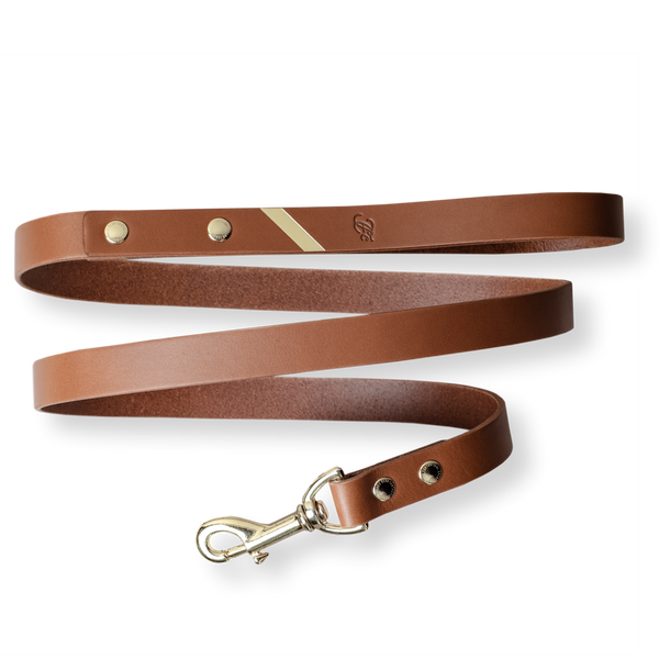 Loyal Me Leather Leash - Hazelnut