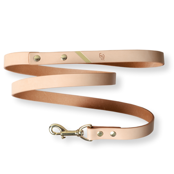 Loyal Me Leather Leash - Naturale