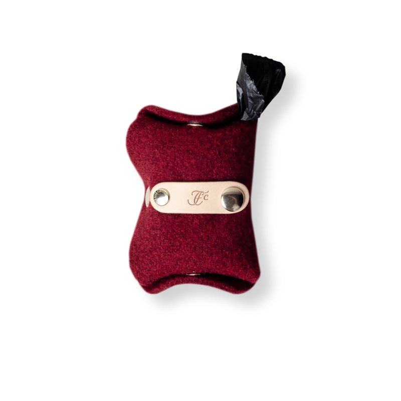 Poop Pouch - Bordeaux Red
