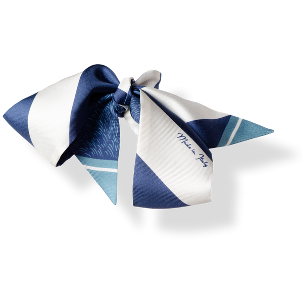Silk Scarf - Blue Sailing