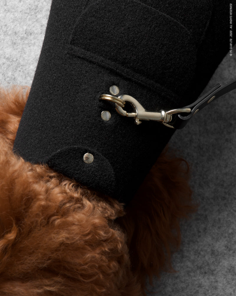 Loyal Me Leather Leash - Pitch Black