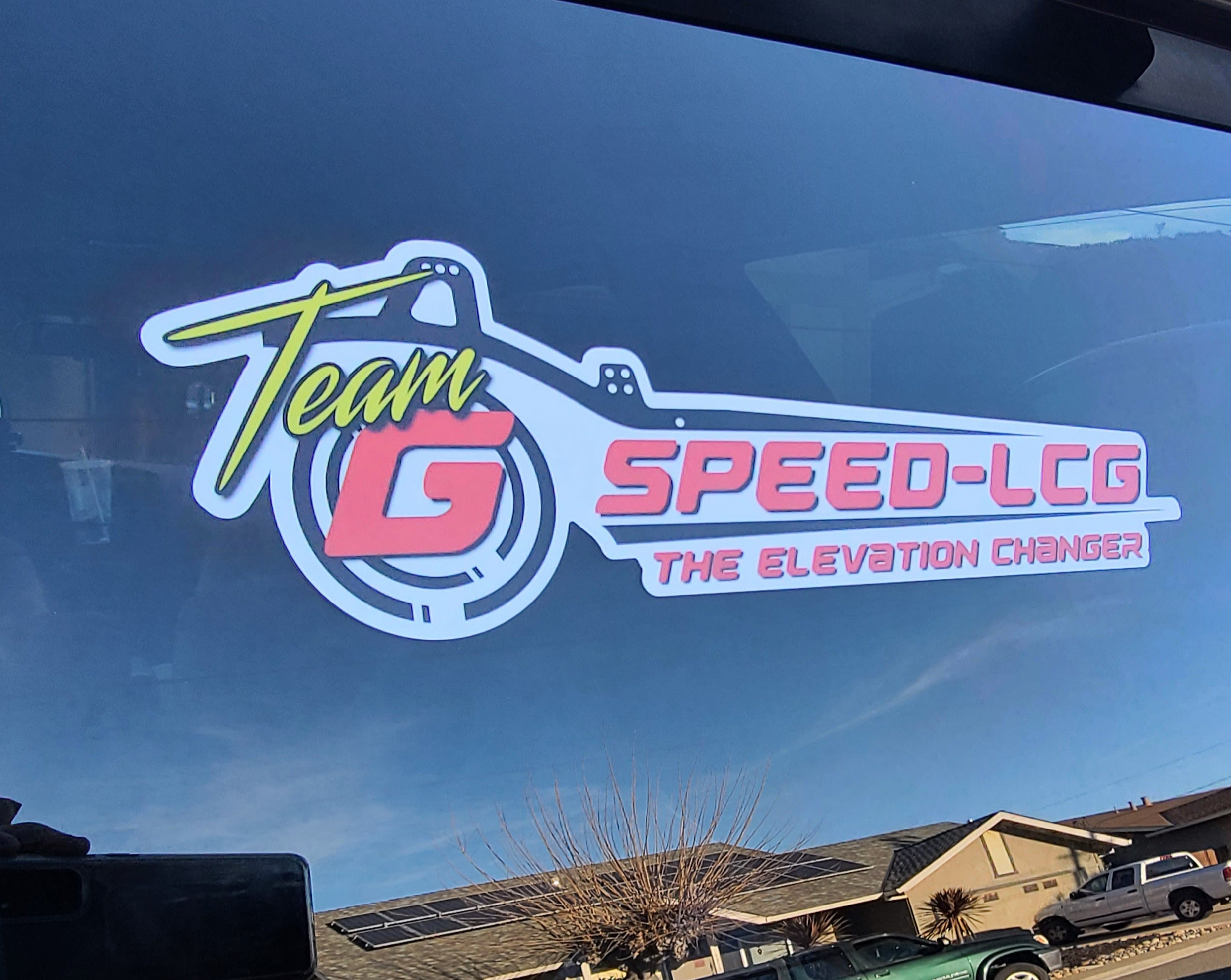 Team GSPEED Chassis 1:1 window sticker 13""
