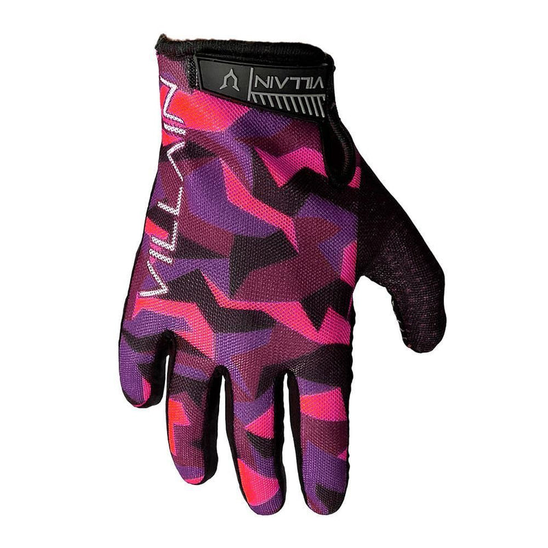 VILLAIN - GAUNTLET RIDING GLOVES - PINK/PURPLE