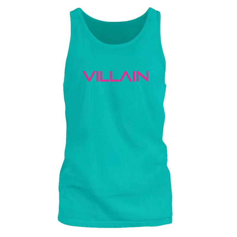 VILLAIN - TANK SLEEVELESS T'S - TURQ