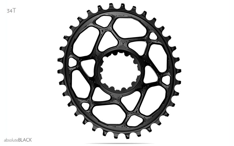 ABSOLUTE BLACK - OVAL DIRECT MOUNT CHAINRING FOR SRAM BOOST CRANKS 3MM OFFSET