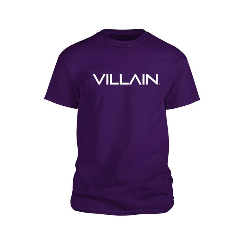VILLAIN - SHOTGUN LOGO T-SHIRT - PURPLE