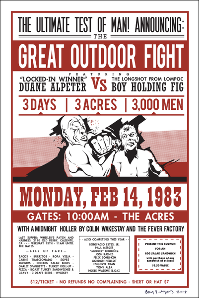 Signed Poster - Great Outdoor Fight 1983