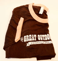 Great Outdoor Fight Ringer Tee, Brown