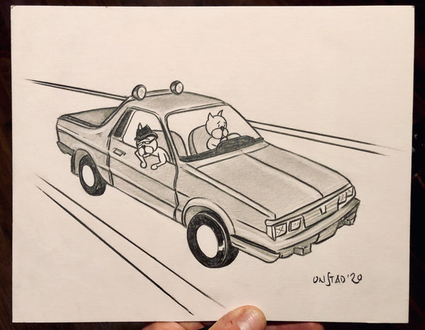 Subaru Brat in Hell, Ray and Beef, 8x10""