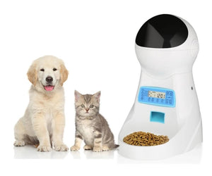 Nicrew3L Automatic Pet Feeder With Voice Record Pets food Bowl For Medium Small Dog Cat LCD Screen Dispensers 4 times One Day