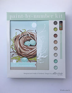 Bird's Nest 8x10 Paint-by-Number Artist-Quality Kit