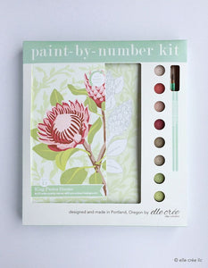 King Protea Blooms 8x10 Paint-by-Number Artist-Quality Kit