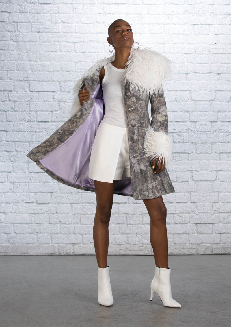 Silver Paris Coat