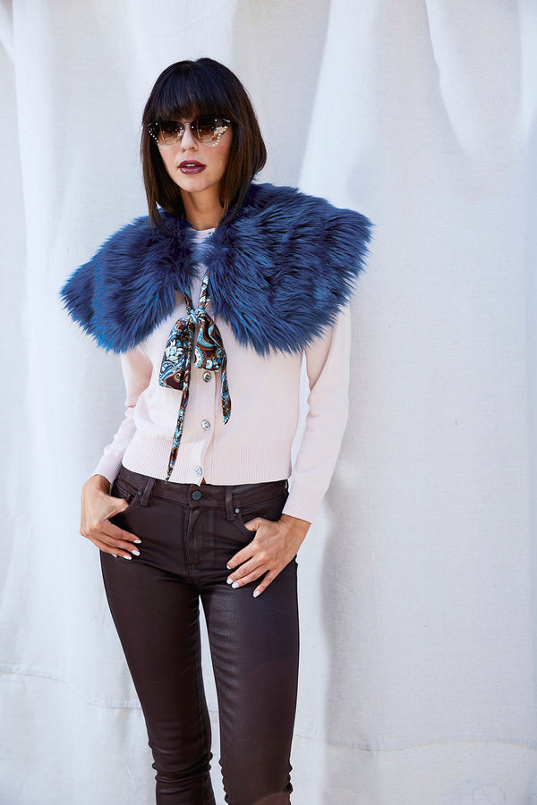 Blue Magic Faux Fur Stole