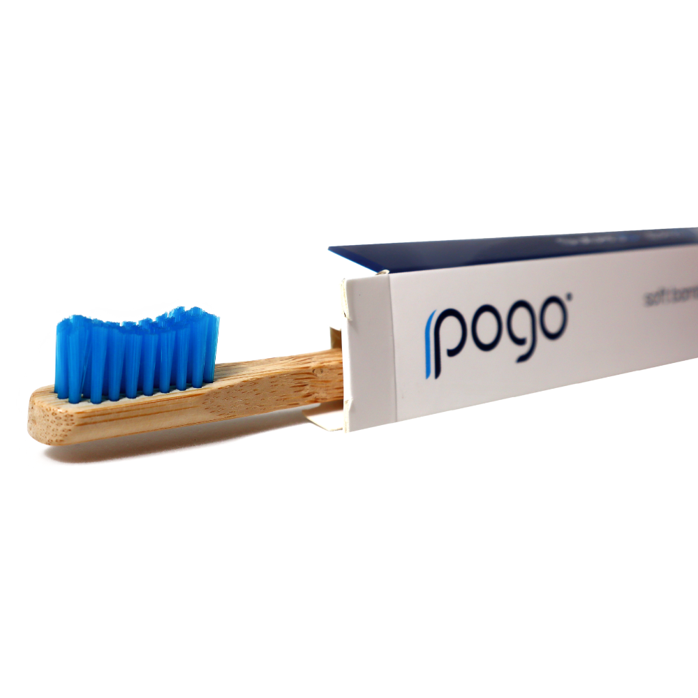 Soft Bamboo Toothbrush - Blue