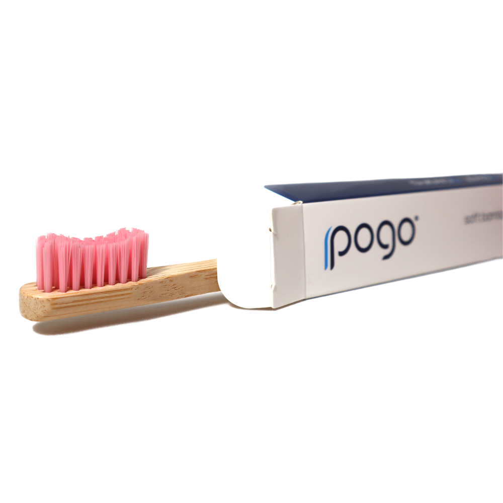 Soft Bamboo Toothbrush - Pink