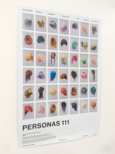 PERSONAS 111 - The Art of Wig Making by Tomihiro Kono Poster [Limited (PLACE) by method editions]