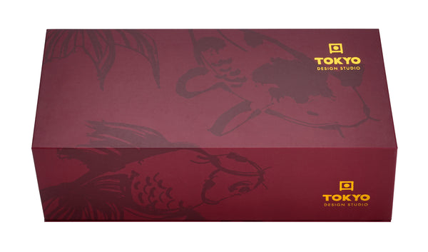 Set 2 Tassen Carp & Goldfish, Petrol & Bordeaux - Giftbox