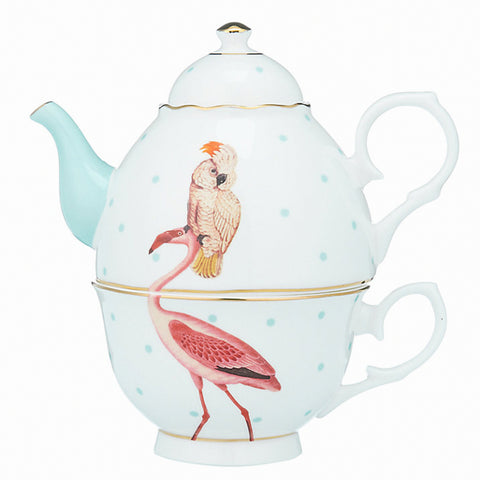 Tea For One Flamingo & Papegaai - Giftbox