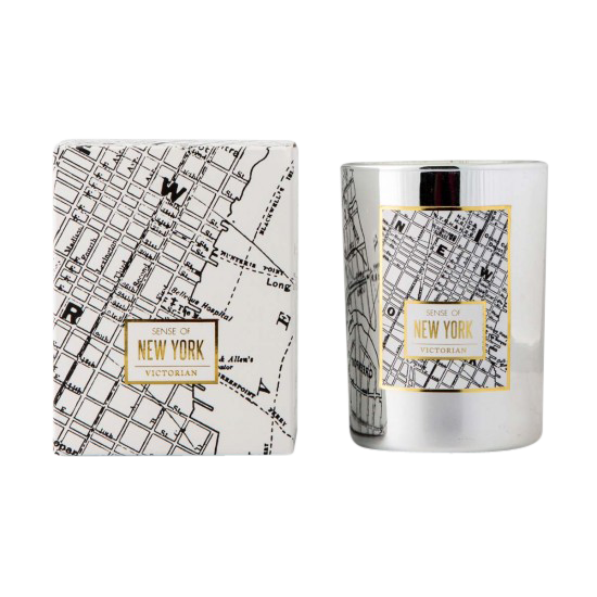 VICTORIAN MAPS NEW YORK CANDLE