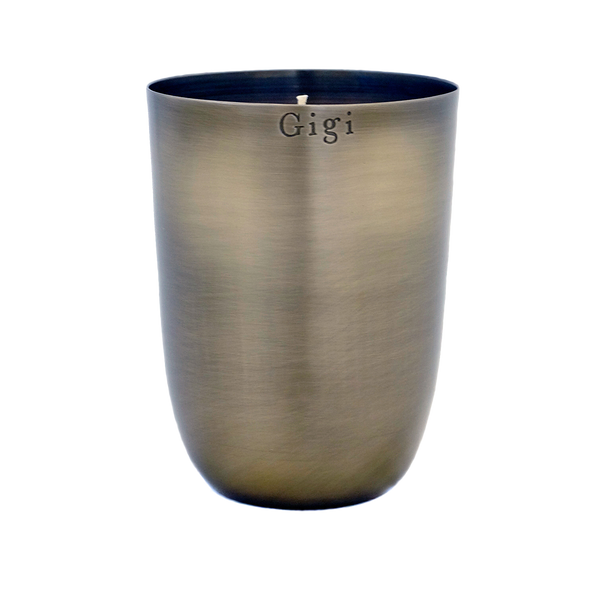 BRUSHED METAL TUMBLER CANDLE