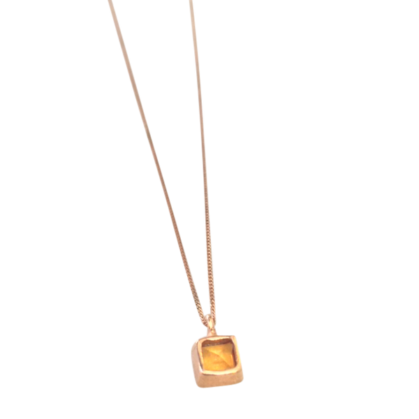 CITRINE PENDANT NECKLACE