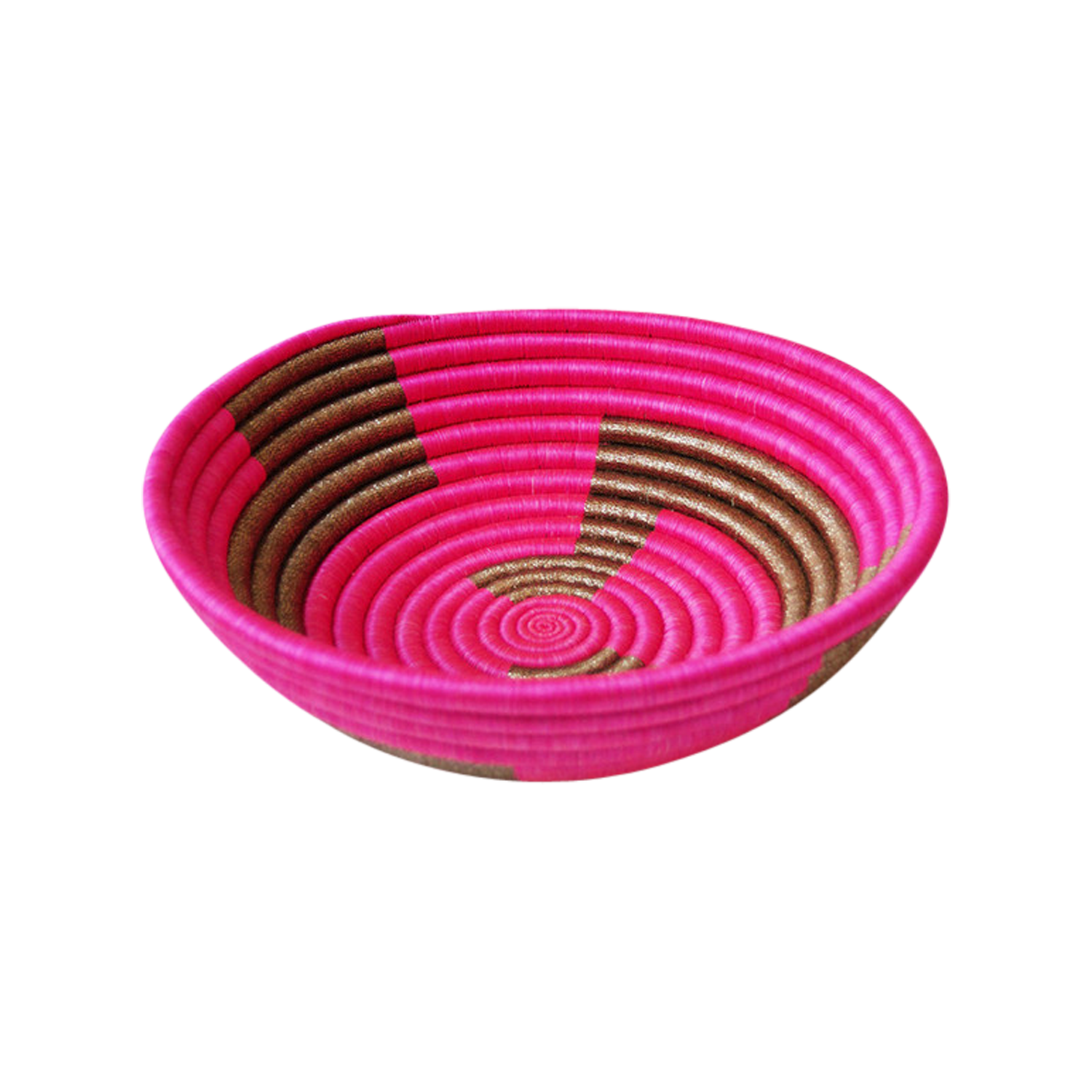 Pink and Gold Plateau Basket