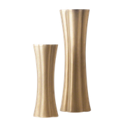 GOLD QUATREFOIL ELONGATED VASES