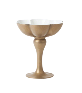 GOLD QUATREFOIL FOOTED COMPOTE