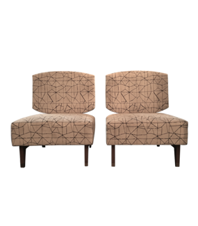 Pair of Geometric Lounge Chairs