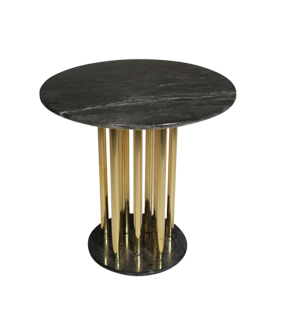 GOLD & MARBLE SIDE TABLE