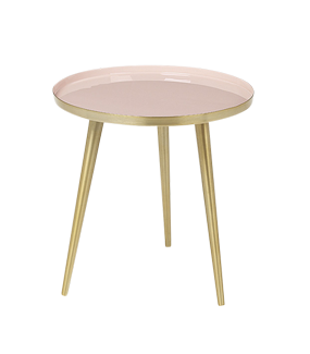 PINK & BRASS 'JELVA' SIDE TABLE