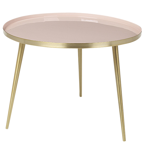 PALE PINK & BRASS 'JELVA' SIDE TABLE