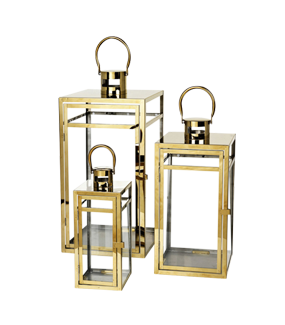 BRASS FINISH LANTERNS