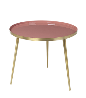 ROSE & BRASS 'JELVA' SIDE TABLE