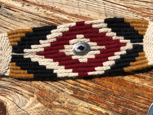 Mohair Breast Collar with Conchos