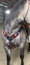 Load image into Gallery viewer, American Flag Feather Mohair Breast Collar
